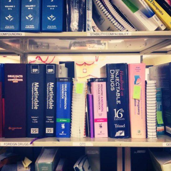 Drug Info Bookshelf